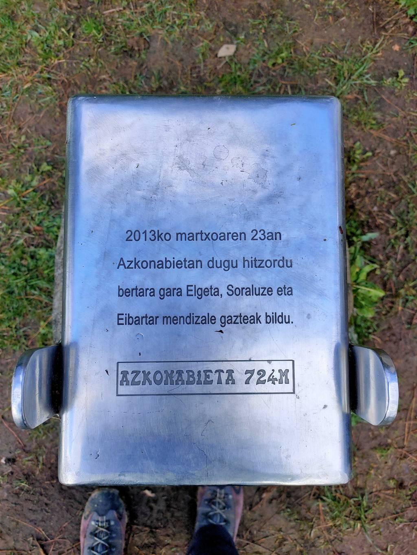 Ane Larreategi erabiltzailea Azkonabieta puntan, 2021-03-20 13:13