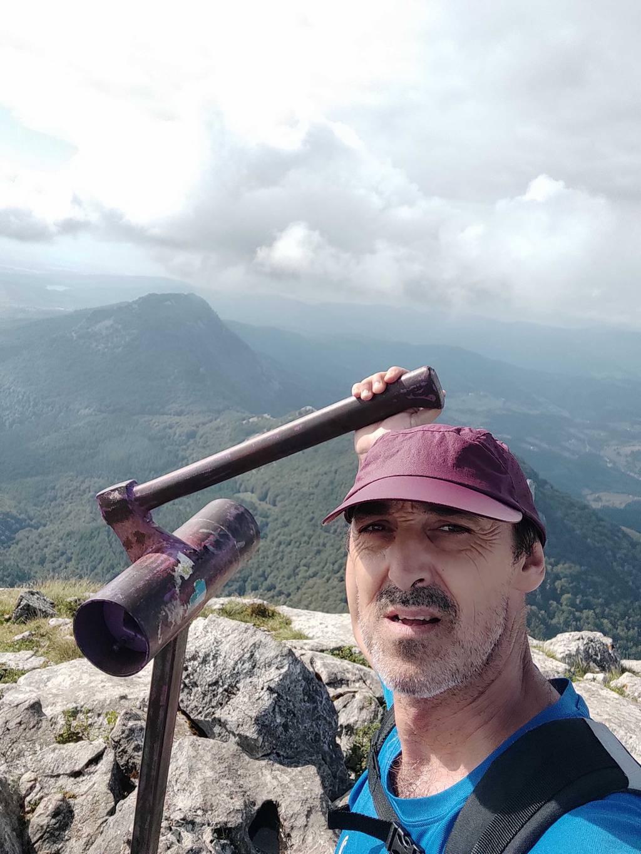 Roman Aranegi erabiltzailea Anboto puntan, 2021-09-10 17:05
